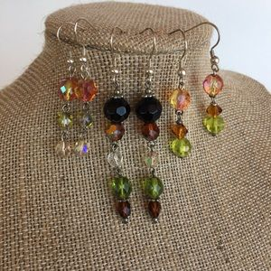 Set of 3 Dangle Earrings